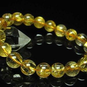 ゴールドタイチンルチル ブレスレット 10mm  t6-5642|seian