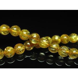 ゴールドタイチンルチル ブレスレット 8mm  t6-5655|seian|03