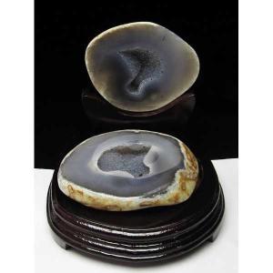 1.1Kg ウルグアイ産 ペア水晶トレジャーメノウ パワーストーン 天然石 t605-2247|seian