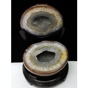 6.7Kg ウルグアイ産 ペア水晶トレジャーメノウ t605-2395|seian
