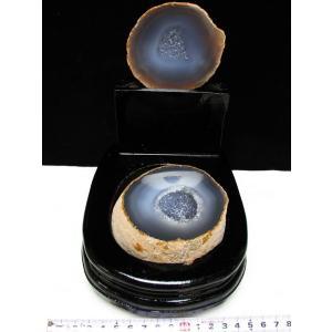 ペア水晶トレジャーメノウ t605-2582|seian