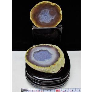 ペア水晶トレジャーメノウ t605-2624|seian