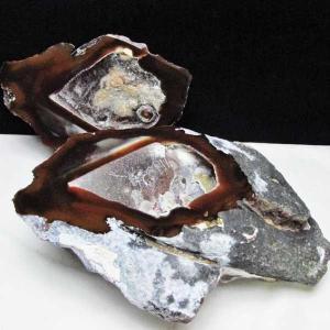 2.2Kg ペア水晶トレジャーメノウ パワーストーン 天然石 t605-3345|seian