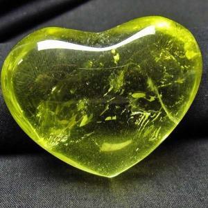 シトリンハート 置物 パワーストーン 天然石 t613-559|seian