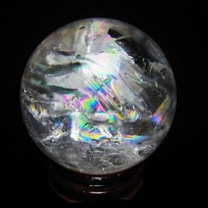 虹入り ヒマラヤ水晶 丸玉 42mm  t62-12134|seian