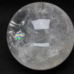 虹入り ヒマラヤ水晶 丸玉 75mm  t62-13067|seian