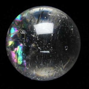 虹入り ヒマラヤ水晶 丸玉 54mm  t62-13183|seian