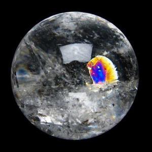 虹入り ヒマラヤ水晶 丸玉 46mm  t62-13196