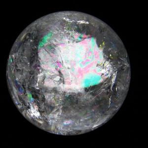 虹入り ヒマラヤ水晶 丸玉 52mm  t62-13375