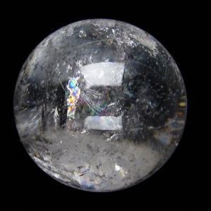虹入り ヒマラヤ水晶 丸玉 52mm  t62-13377|seian