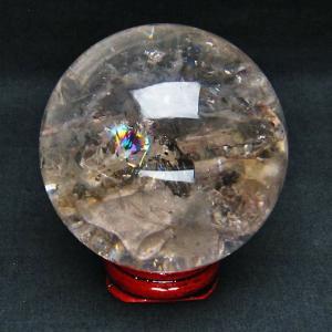 虹入りヒマラヤ水晶丸玉68mm