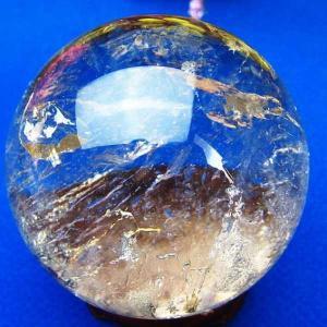 ヒマラヤ水晶 水晶玉 天然 置物 丸玉 49mm パワーストーン 天然石 t62-243|seian