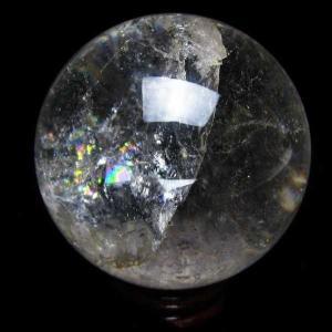 ヒマラヤ水晶 水晶玉 天然 置物 丸玉 64mm パワーストーン 天然石 t62-267|seian