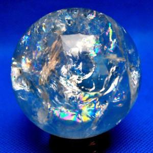 虹入り ヒマラヤ水晶 丸玉 水晶玉 70mm  t62-8026|seian