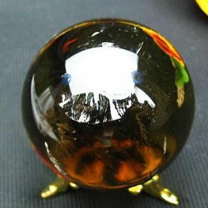 シトリン水晶 丸玉 43mm  パワーストーン 天然石 t63-276|seian