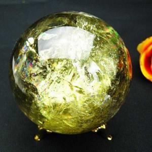 シトリン水晶 丸玉 79mm  t63-291|seian
