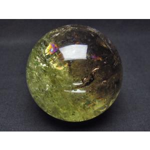 虹入り シトリン水晶 丸玉 71mm  t63-5334|seian|02