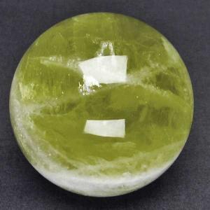 虹入り シトリン水晶 丸玉 62mm  パワーストーン 天然石 t63-5737|seian
