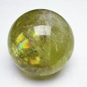 虹入り シトリン水晶 丸玉 56mm  t63-5962|seian