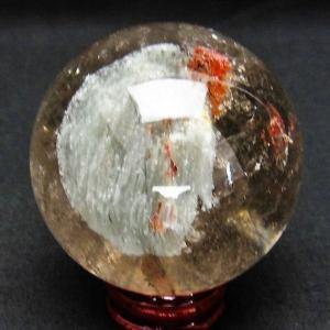 ガーデンクォーツ(庭園水晶) 丸玉 59mm  t637-3166 seian