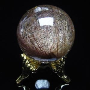 ルチル入り 水晶 丸玉 23mm  t637-3584|seian
