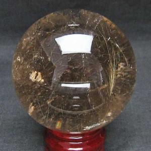 ルチル入り 水晶 丸玉 75mm  パワーストーン 天然石 t637-3619|seian