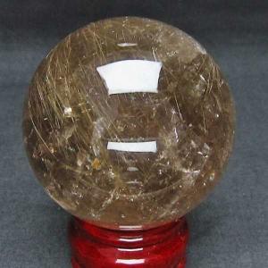 ルチル入り 水晶 丸玉 66mm  パワーストーン 天然石 t637-3621|seian