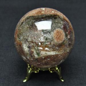 ガーデンクォーツ(庭園水晶) 丸玉 40mm  t637-3643 seian