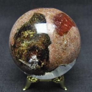 ガーデンクォーツ(庭園水晶) 丸玉 53mm  パワーストーン 天然石 t637-3661|seian