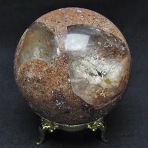 ガーデンクォーツ(庭園水晶) 丸玉 67mm  t637-3673 seian