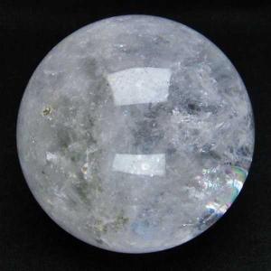 虹入り ガーデンクォーツ(庭園水晶) 丸玉 74mm  パワーストーン 天然石 t637-3720|seian