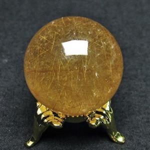 ルチル入り 水晶 丸玉 28mm  t637-3988|seian