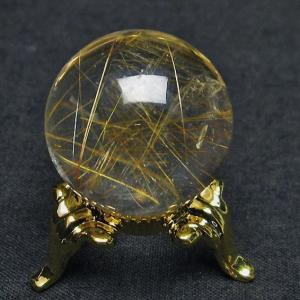 ルチル入り 水晶 丸玉 24mm  t637-3992|seian