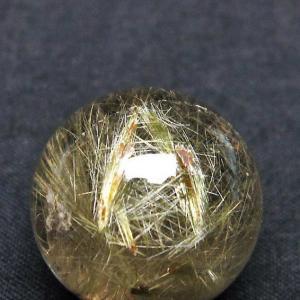 放射ルチルクォーツ(金針ルチル水晶) 丸玉 21mm  t637-4021|seian