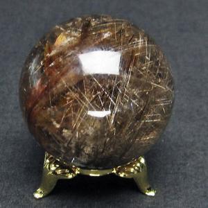 ガーデンクォーツ(庭園水晶)放射プラチナルチル入り水晶 丸玉 43mm  t637-4060|seian