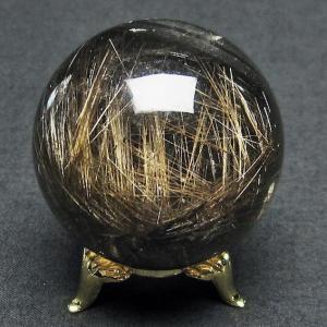 ガーデンクォーツ(庭園水晶)放射プラチナルチル入り水晶 丸玉 47mm  t637-4072|seian