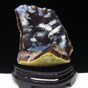 1.2Kg メノウ  原石 カルサイト共生 t640-1901|seian
