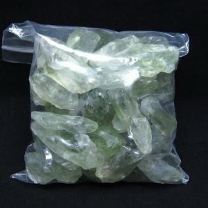 緑水晶 クラスター グリーンクォーツ  原石 t643-3949