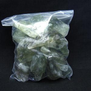 緑水晶 クラスター グリーンクォーツ  原石 t643-3977