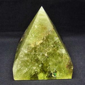 1.5Kg シトリン水晶ピラミッド パワーストーン 天然石 t648-3270|seian