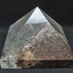 3.8Kg ガーデンルチル水晶ピラミッド t648-3467|seian