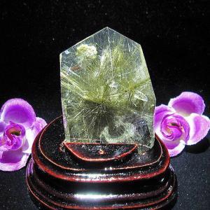 プラチナルチル入り入水晶 六角柱 T670-1|seian