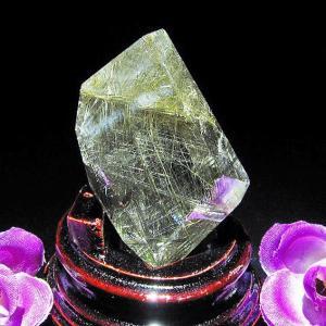 プラチナルチル入り入水晶 六角柱 T670-11|seian