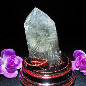 プラチナルチル入り入水晶 六角柱 T670-7|seian