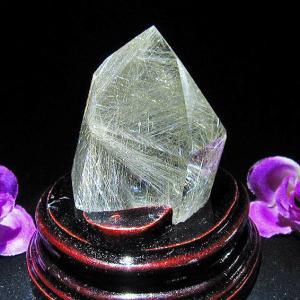 プラチナルチル入り入水晶 六角柱 T670-8|seian