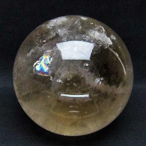 3.6Kg ライトニング水晶 丸玉 141mm  パワーストーン 天然石 t718-2376 seian