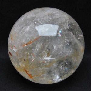 ヒマラヤ水晶 水晶玉 天然 置物 丸玉 145mm 虹入り 3.9Kg t718-2391|seian