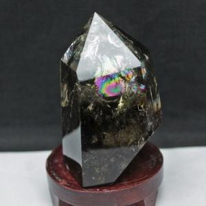 虹入り シトリン水晶 六角柱 t719-3244|seian
