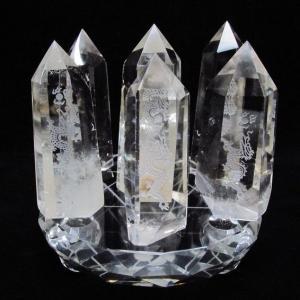 ヒマラヤ水晶浮彫り龍 六角柱七星陣 t72-308|seian