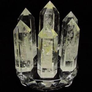 シトリン水晶 浮彫り龍  六角柱 七星陣 t72-327|seian